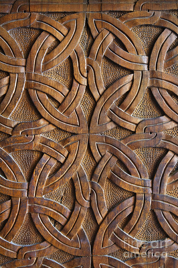Carved Wooden Door In The Tsminda Sameba Cathedral Tbilisi
