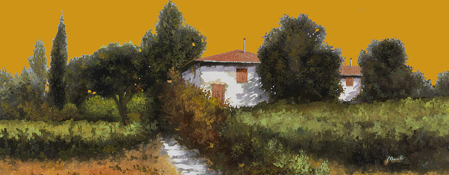Sunset Painting - Casa Al Tramonto by Guido Borelli