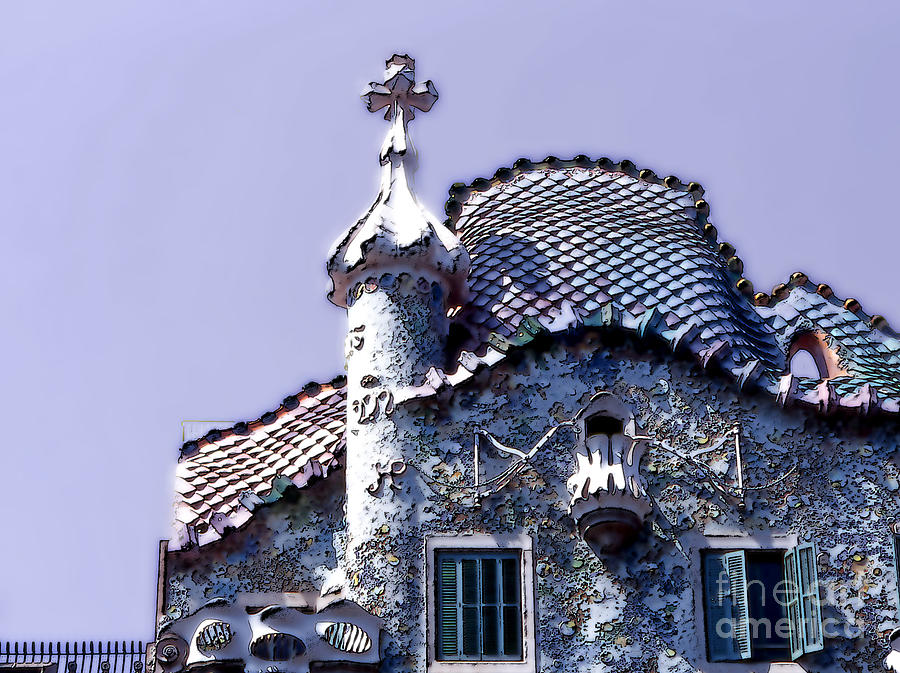 Barcelona Photograph - Casa Batllo - Barcelona by Linda  Parker