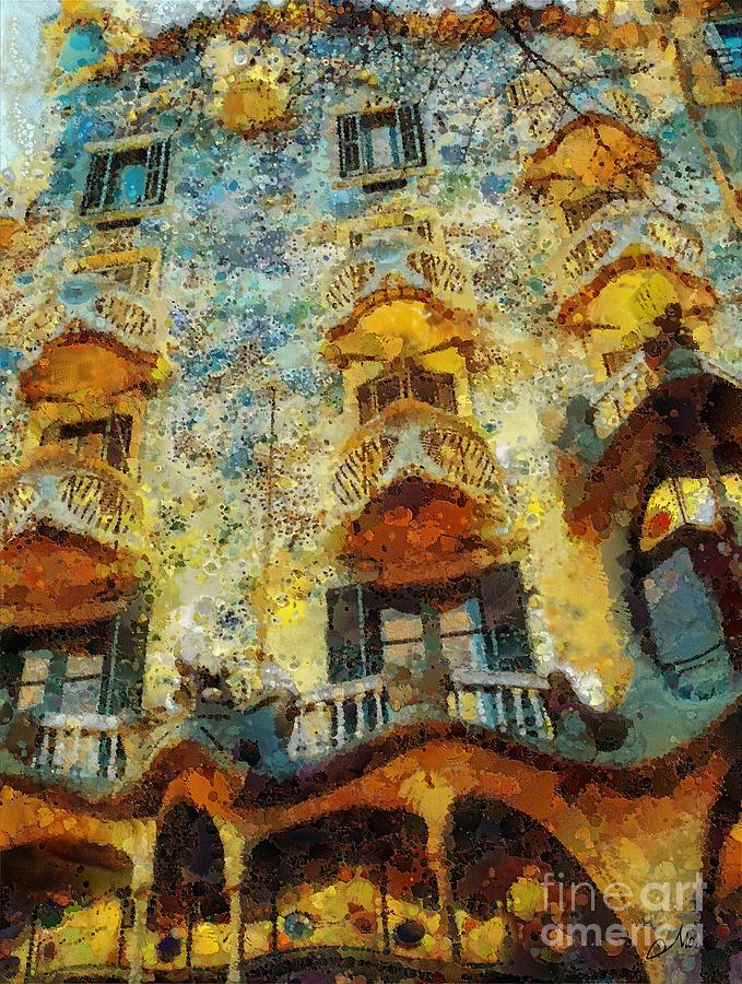 Casa Battlo Painting - Casa Battlo by Mo T