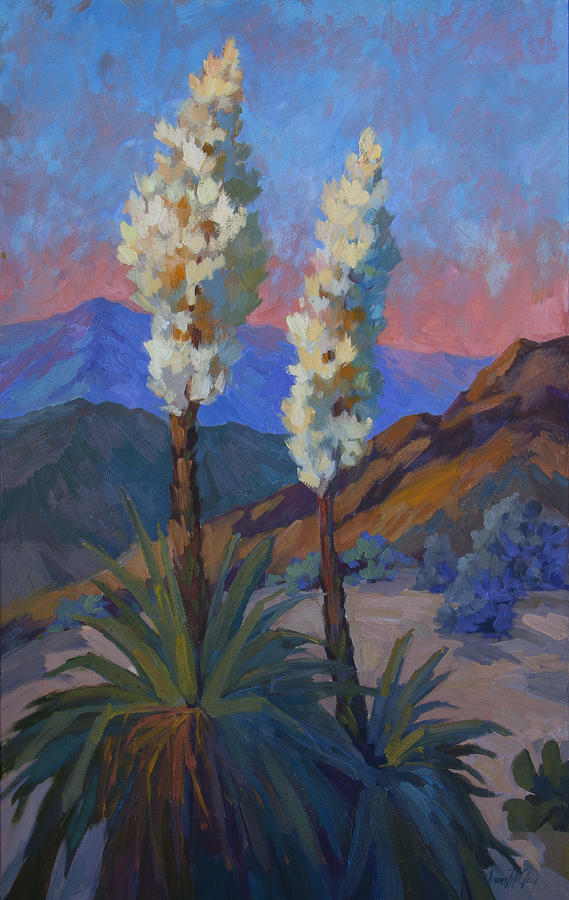 La Quinta Painting - Casa Tecate Yuccas by Diane McClary