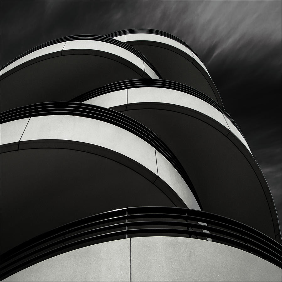 Shapes Photograph - Cascade Balcony by Gilbert Claes
