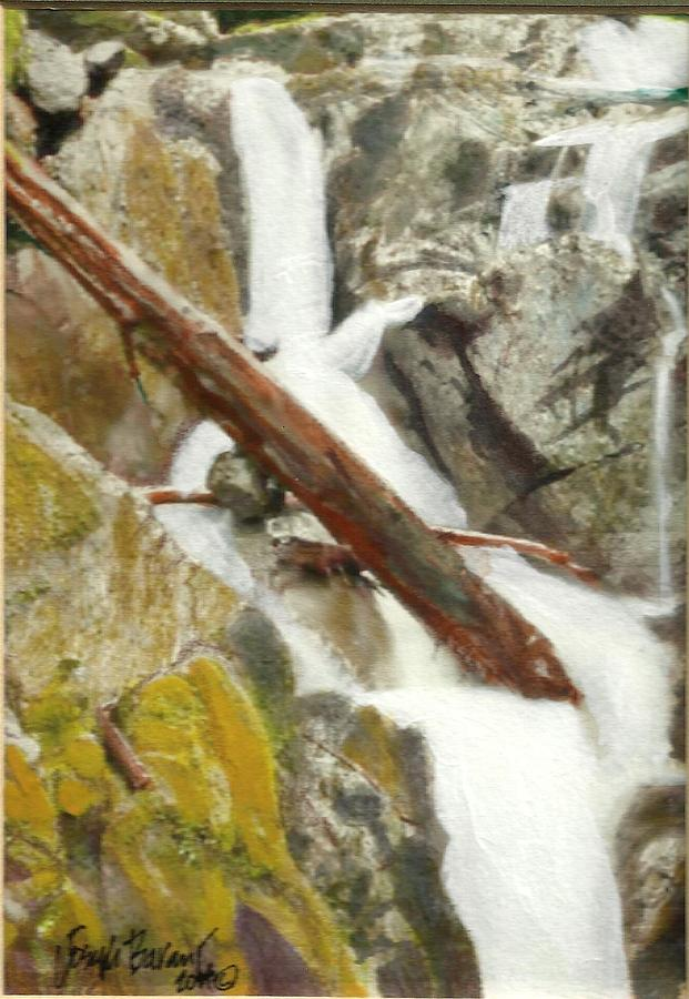 Moving Water Painting - Cascade Creek Falls by Joseph Barani