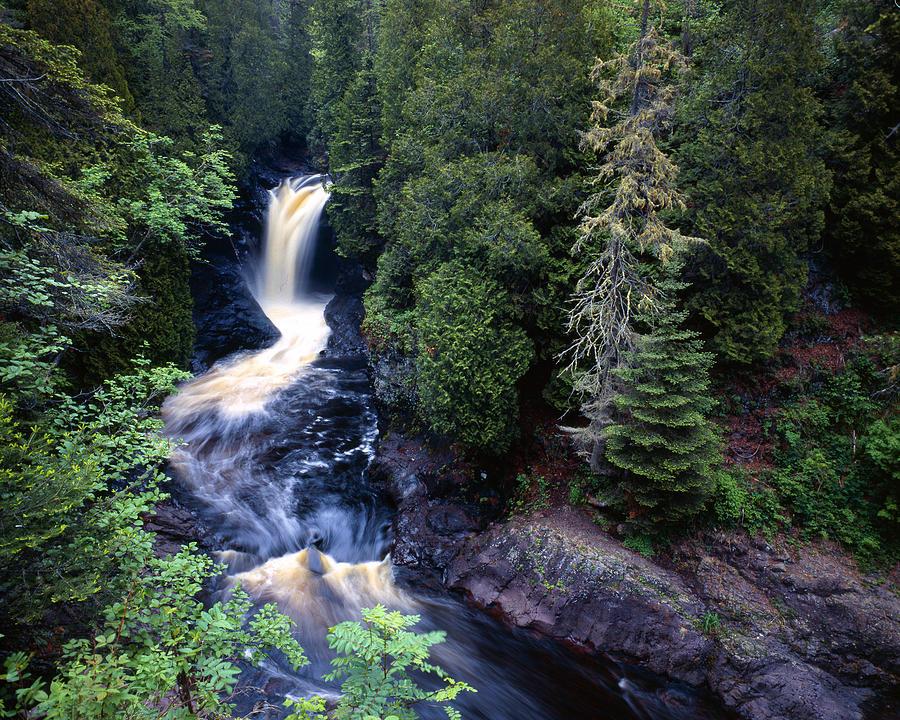 Cascade River State Park Photograph - Cascade River Lower Falls by Tim Hawkins