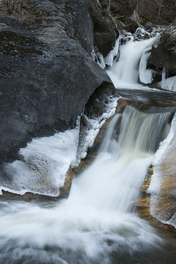 Flowing Water Photograph - Cascades At Kent Falls by Clifford Pugliese