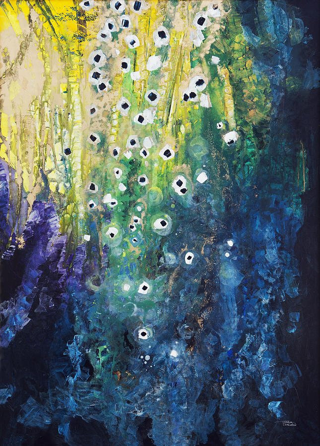 Abstract Painting - Cascading Colors by Tara Thelen