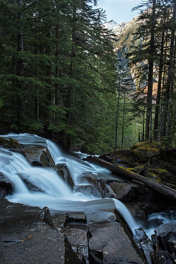 Fall Photograph - Cascading Mountain Falls by Mike Reid