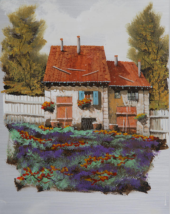 Country House Painting - Case E Lavande by Guido Borelli