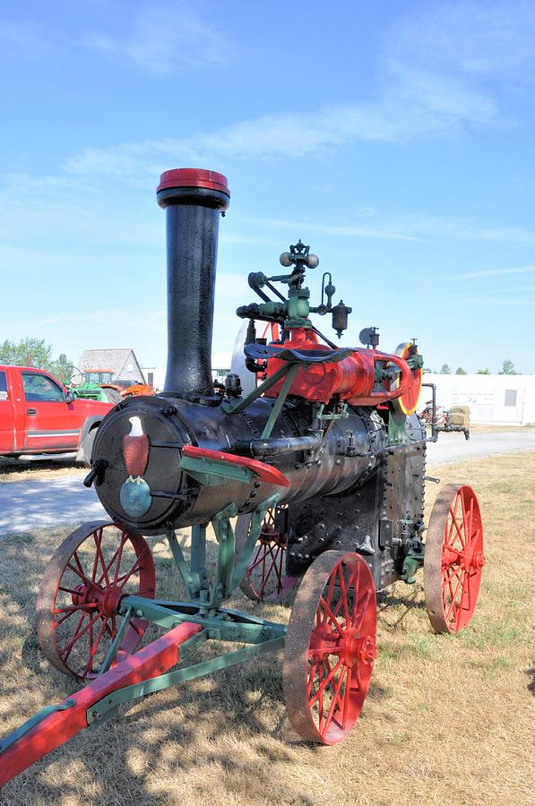 Steam Photograph - Case Steam Engine by Valerie Kirkwood