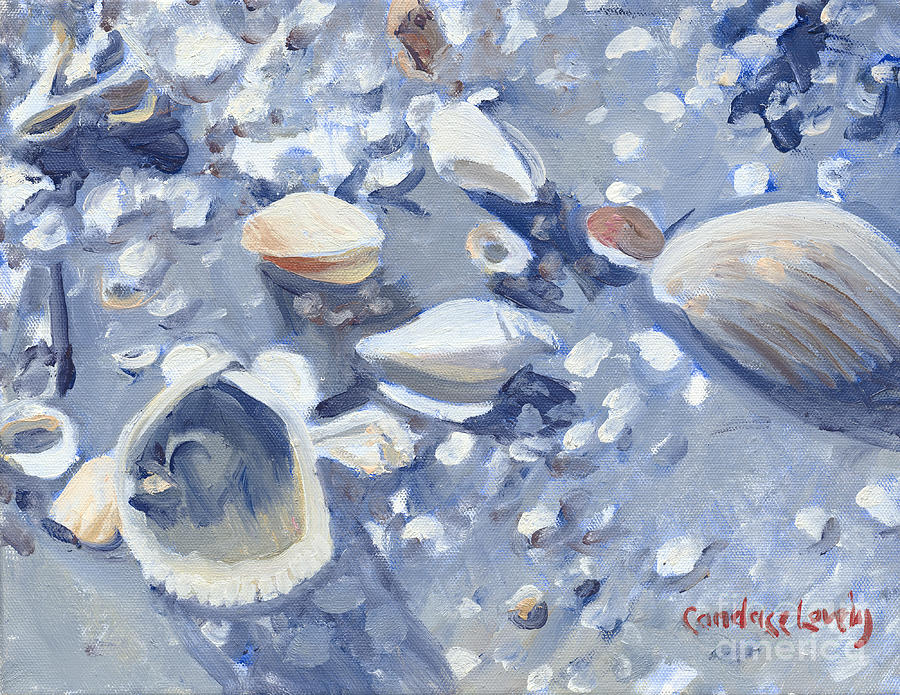 Shells Painting - Casey Key Shells by Candace Lovely