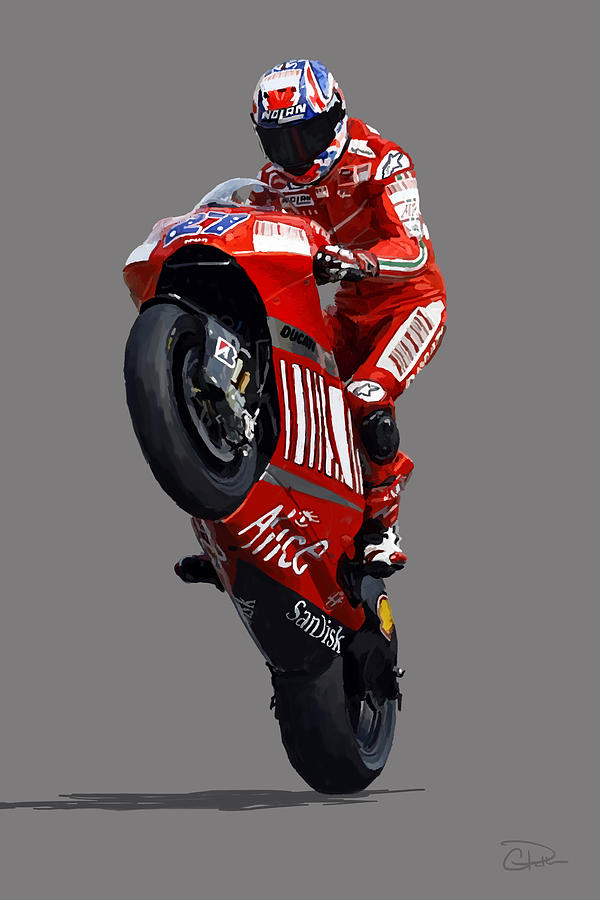 Casey Stoner Digital Art By Charley Pallos