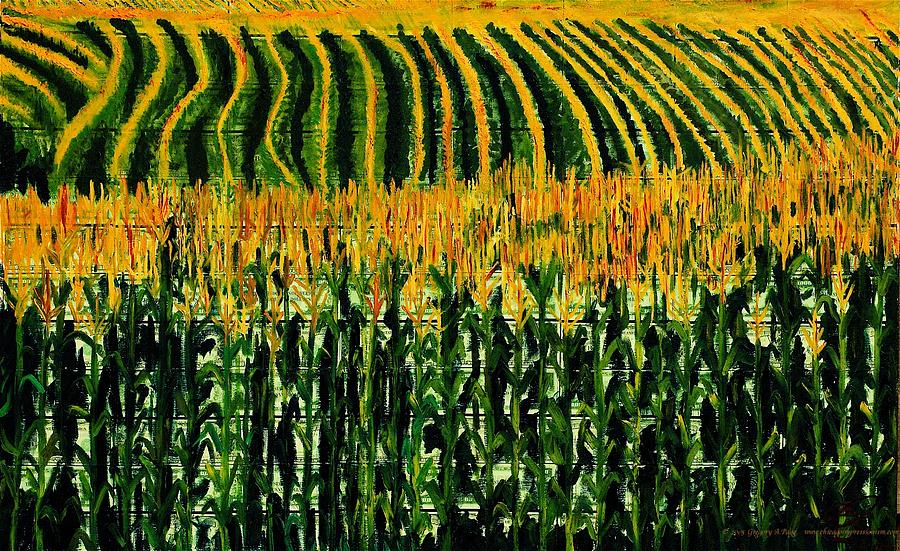 Corn Painting - Cash Crop Corn by Gregory Allen Page