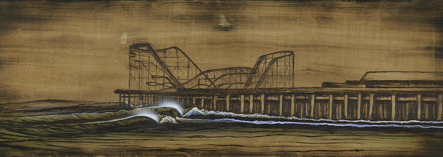 Casino Pier Mixed Media - Casino Pier Tribute by Ronnie Jackson