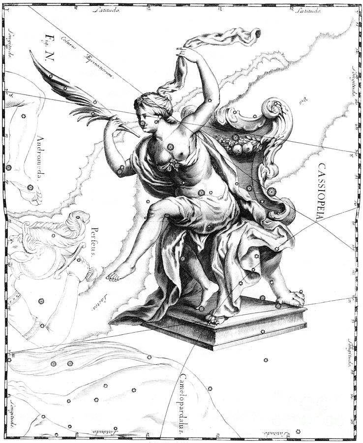 Cassiopeia Constellation Hevelius 1687 Photograph By