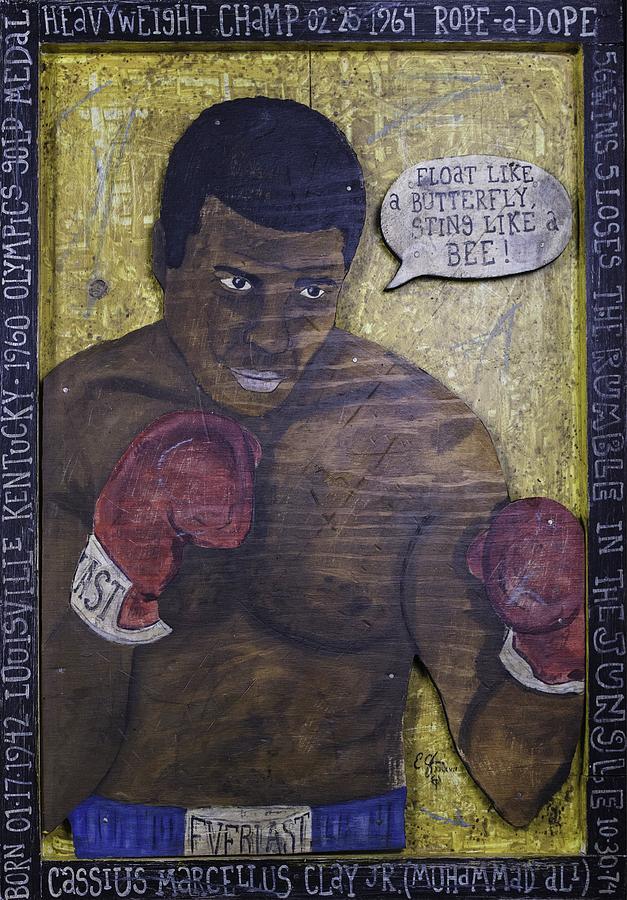 Cassius Painting - Cassius Clay - Muhammad Ali by Eric Cunningham