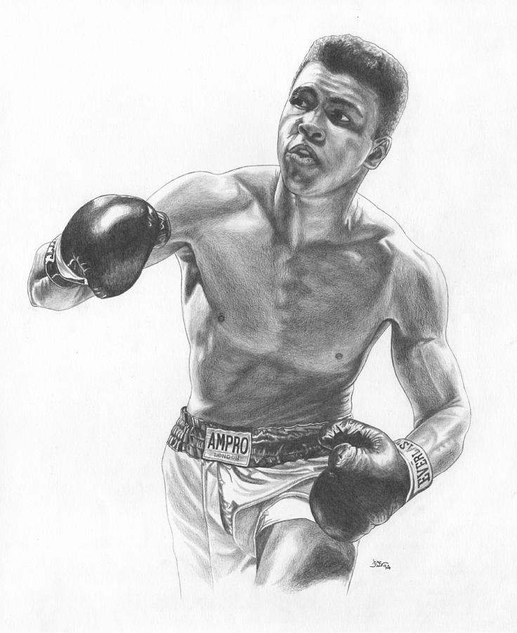 раз бой боксеров рисунок недавнем