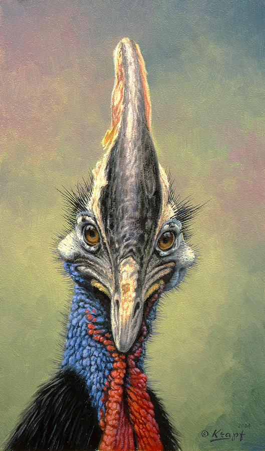 Wildlife Painting - Cassowary by Paul Krapf