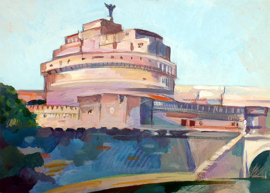 Rome Painting - Castel Sant Angelo by Filip Mihail
