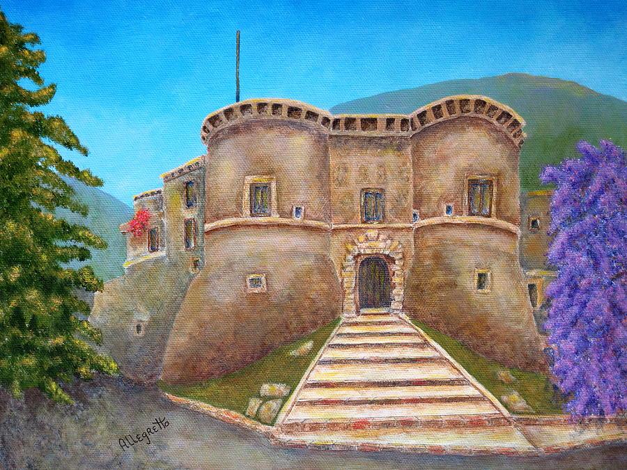 Italy Painting - Castello Ducale Di Faicchio by Pamela Allegretto