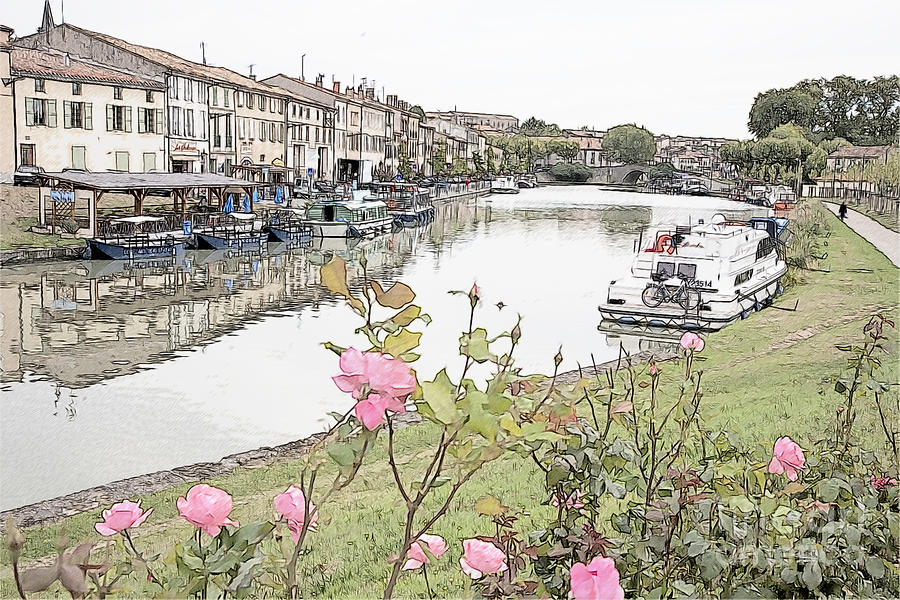 Castelnaudary At The Canal Du Midi Photograph