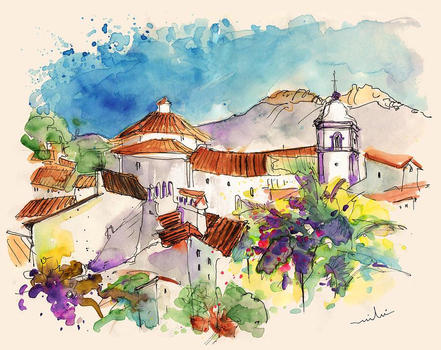Travel Painting - Castelo De Vide In Portugal 01 by Miki De Goodaboom