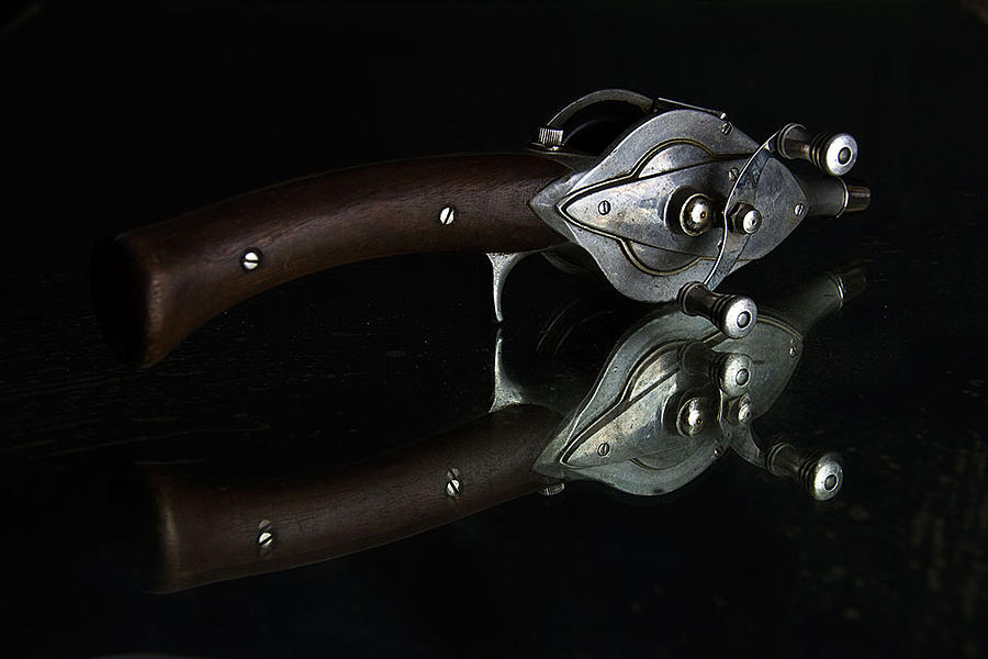 Vintage Photograph - Casting Reel by Julian Riojas