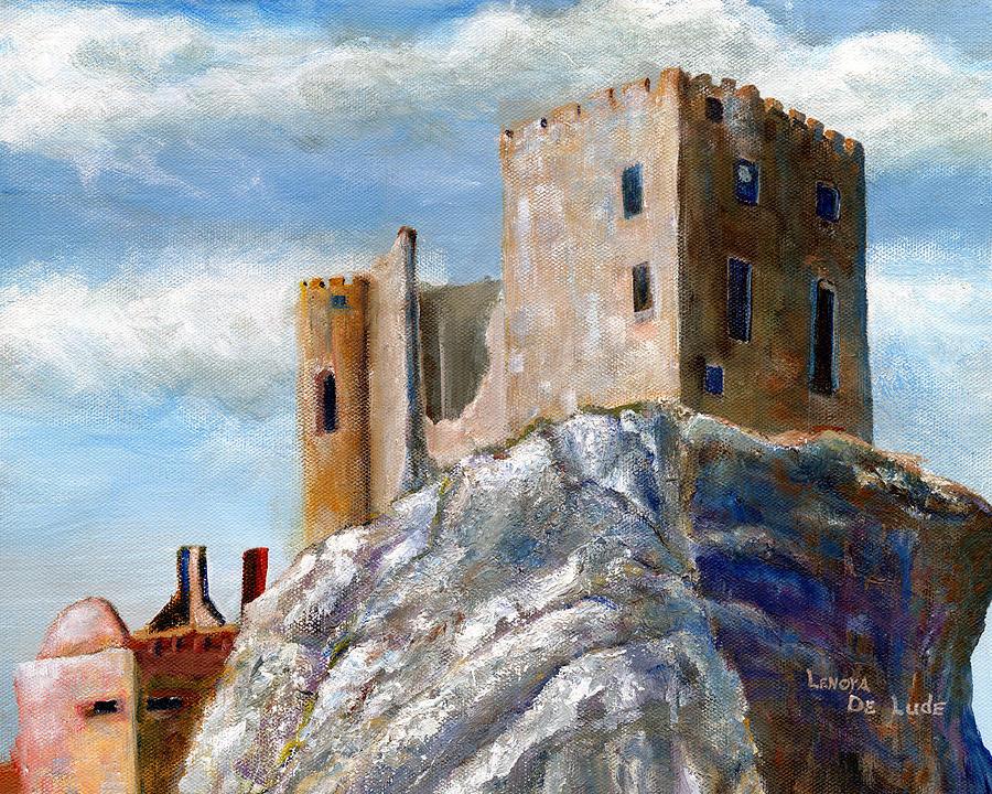 Castle Art Beckov Slovakia by Lenora  De Lude