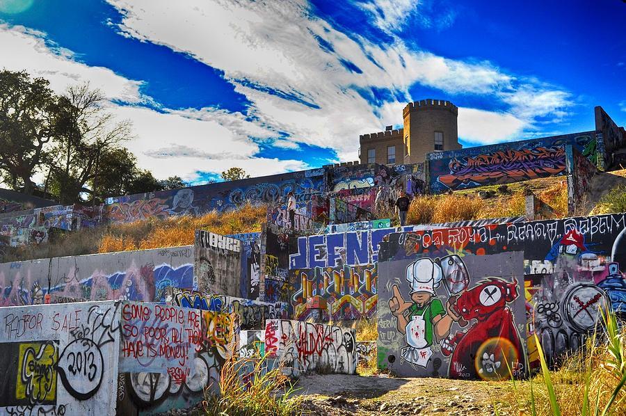 Austin Castle and Graffiti Hill by Kristina Deane