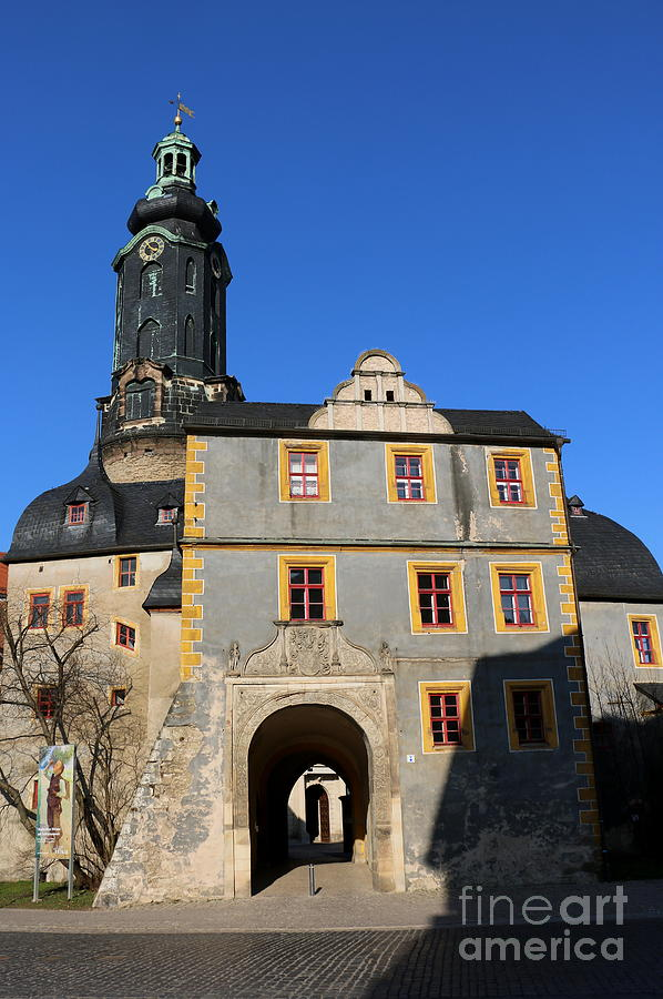 Castle Photograph - Castle Church Weimar by Christiane Schulze Art And Photography