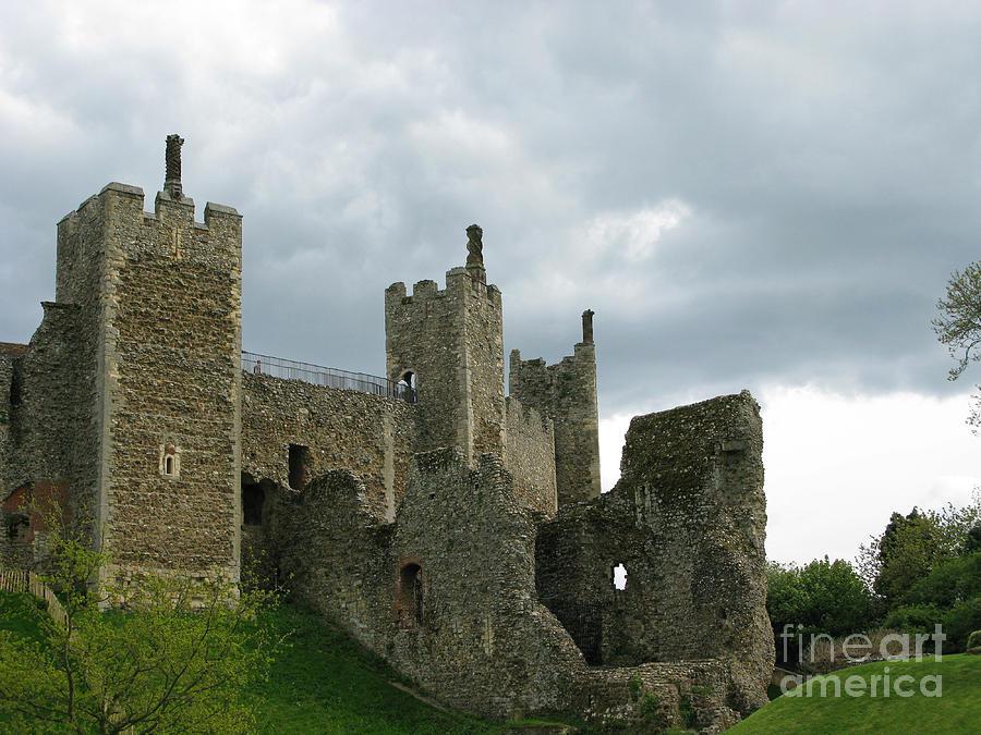 Castle Photograph - Castle Curtain Wall by Ann Horn