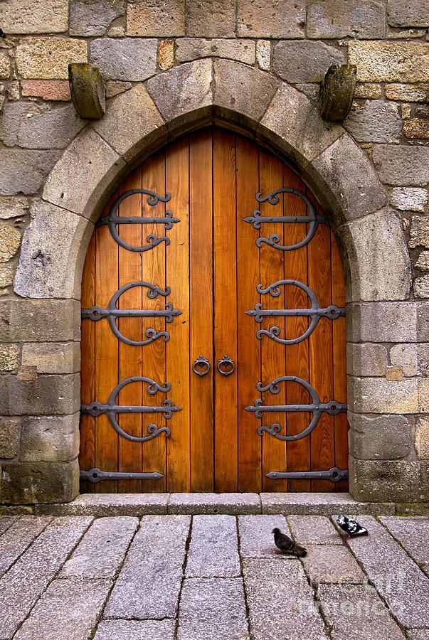 Ancient Photograph - Castle Door by Carlos Caetano