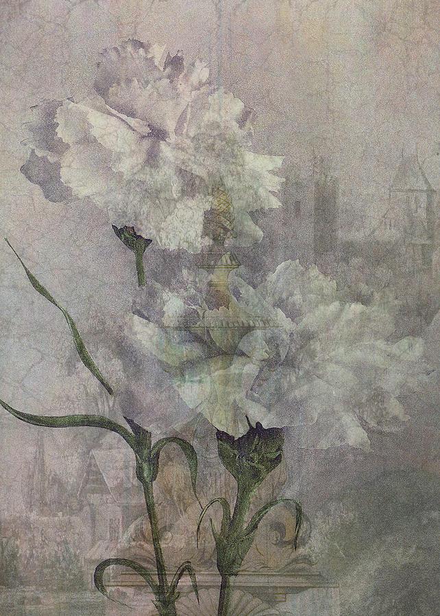 Castle Digital Art - Castle Flowers by Sarah Vernon