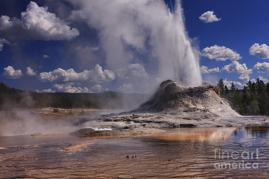 Castle Geyser Photograph