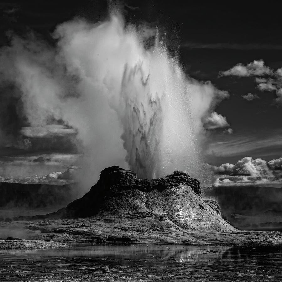 Wyoming Photograph - Castle Geyser by Yvette Depaepe
