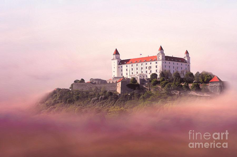 Digital Painting - Castle In The Air II. - Bratislava Castle by Martin Dzurjanik