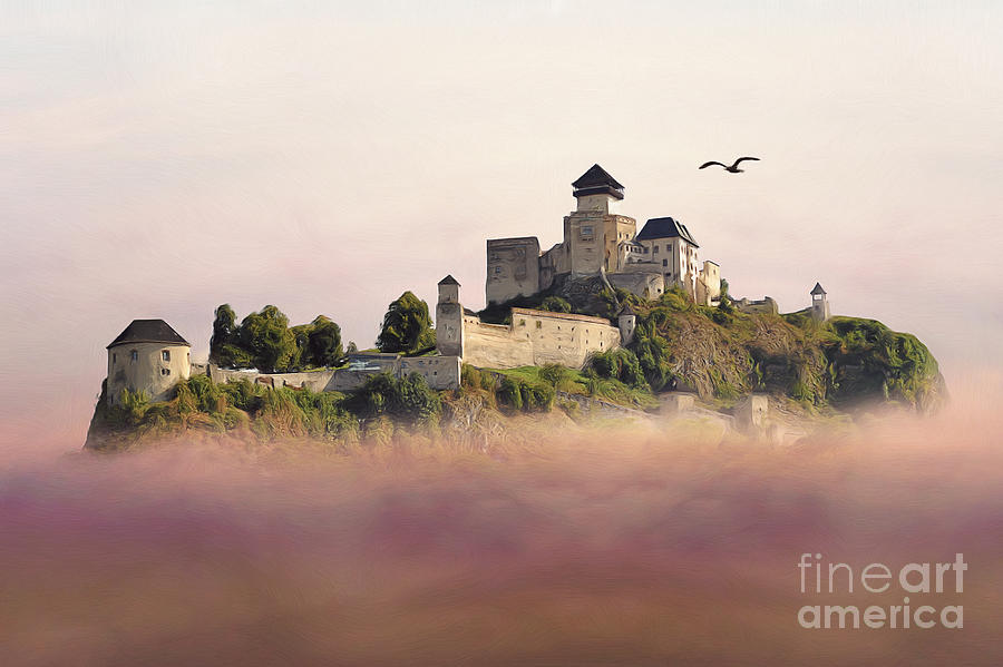 Digital Painting - Castle In The Air IIi. - Trencin Castle by Martin Dzurjanik