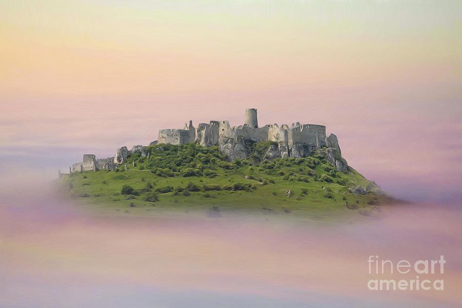 Digital Painting - Castle In The Air. - Spis Castle by Martin Dzurjanik