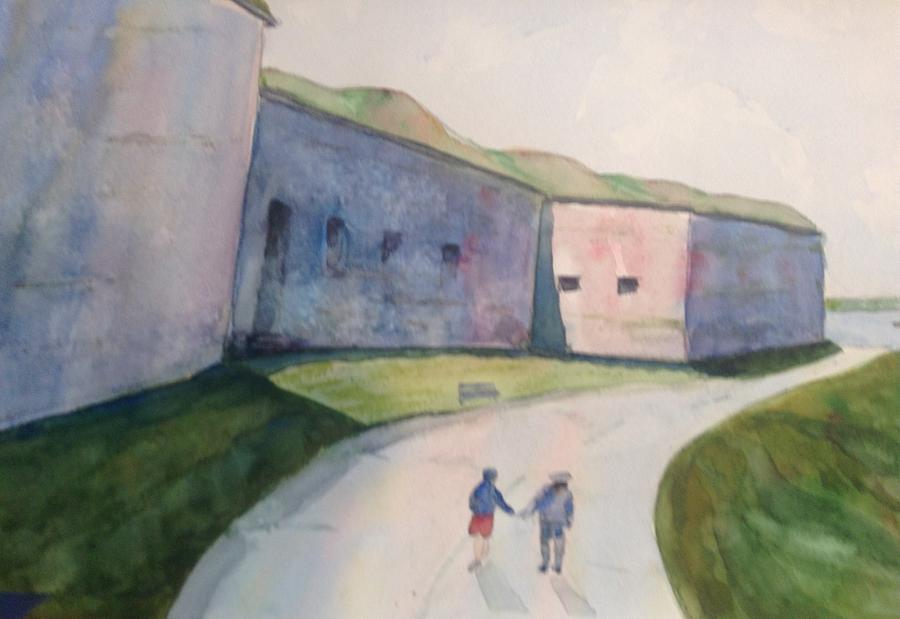 Landscape Painting - Castle Island by Pat Steiner