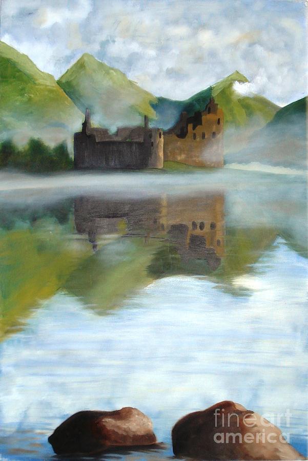 Castle Painting - Castle by Janet C Stevens
