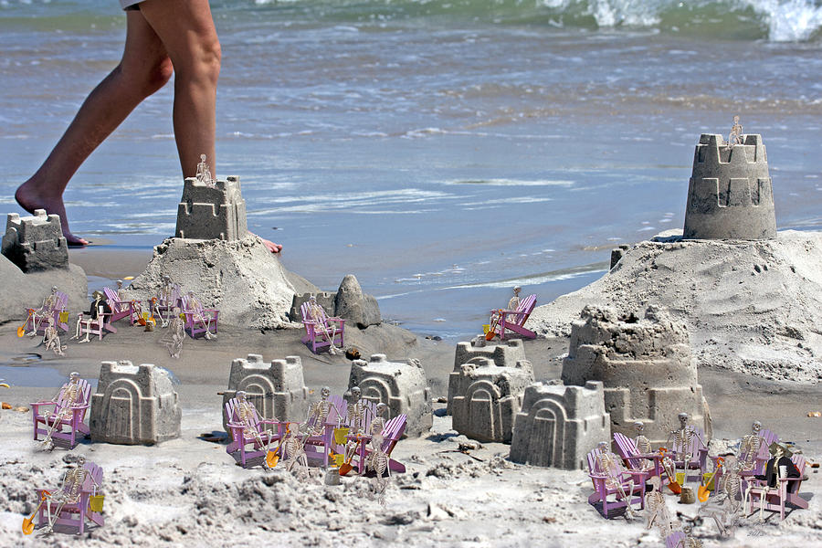 Sandcastle Digital Art - Castle Kingdom  by Betsy Knapp