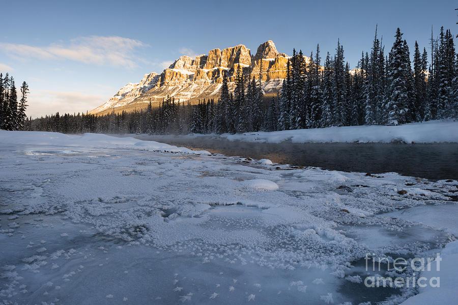 Alberta Photograph - Castle Mountain Sunrise by Ginevre Smith