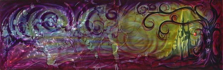God Painting - Castle Of Eden by Luis  Navarro