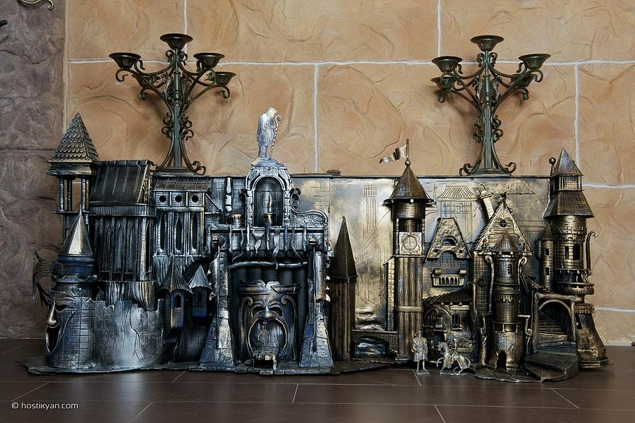 Iron Sculpture - Castle Of Montague And Capulet by Arman Hostikyan