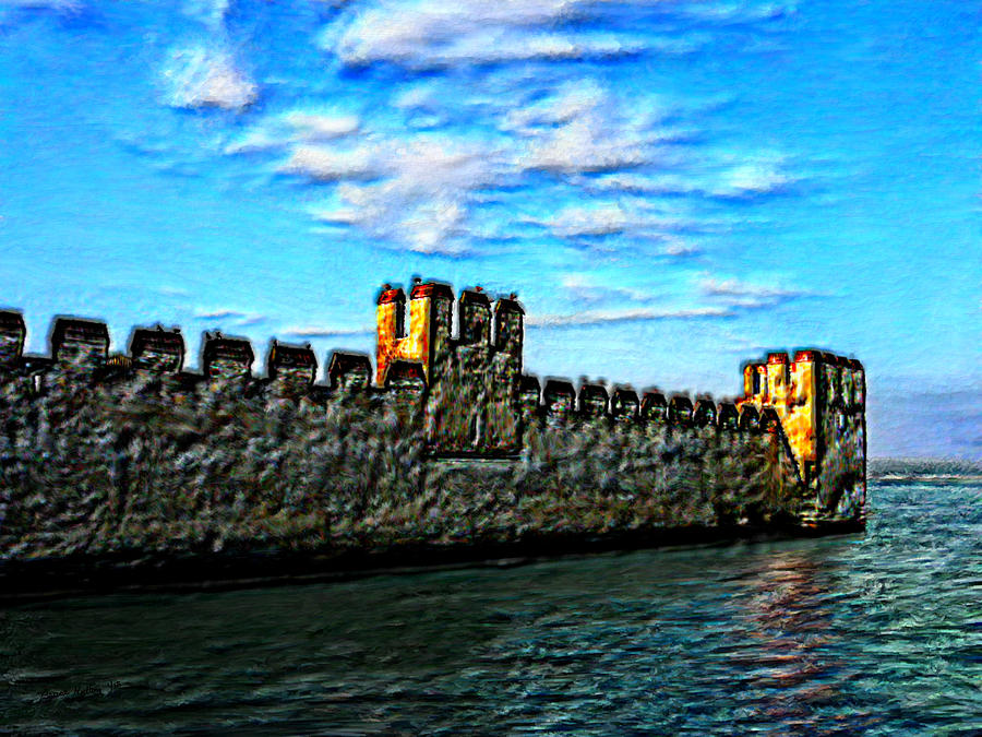 Castle On The Sea Painting