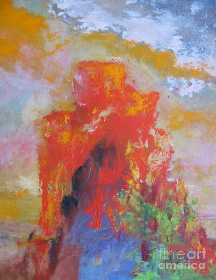 Castle Rock Painting - Castle Rock by Myra Maslowsky