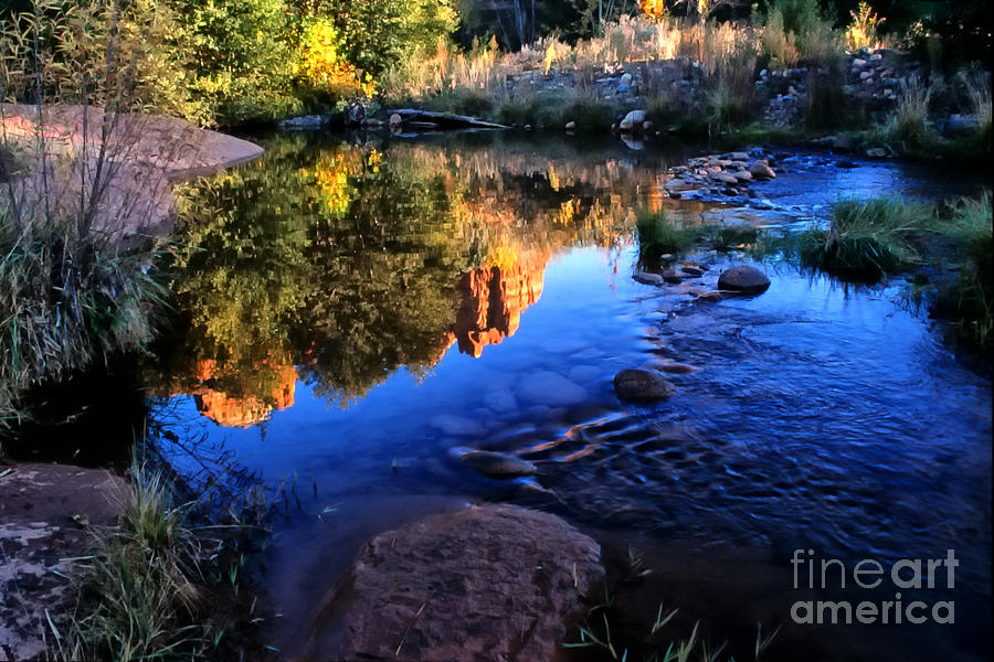 Arizona Photograph - Castle Rock Reflection by Barbara D Richards
