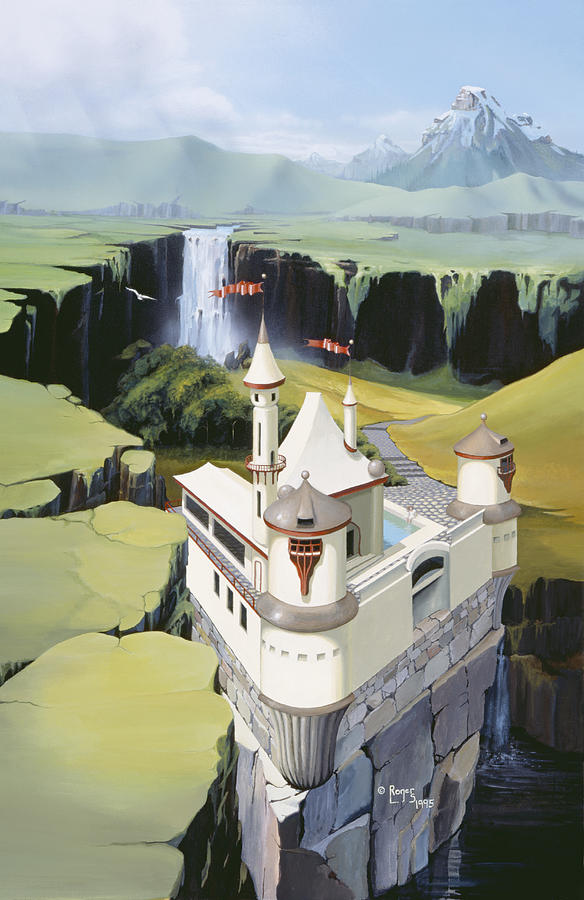 Castle Painting - Castle by Roger Snyder