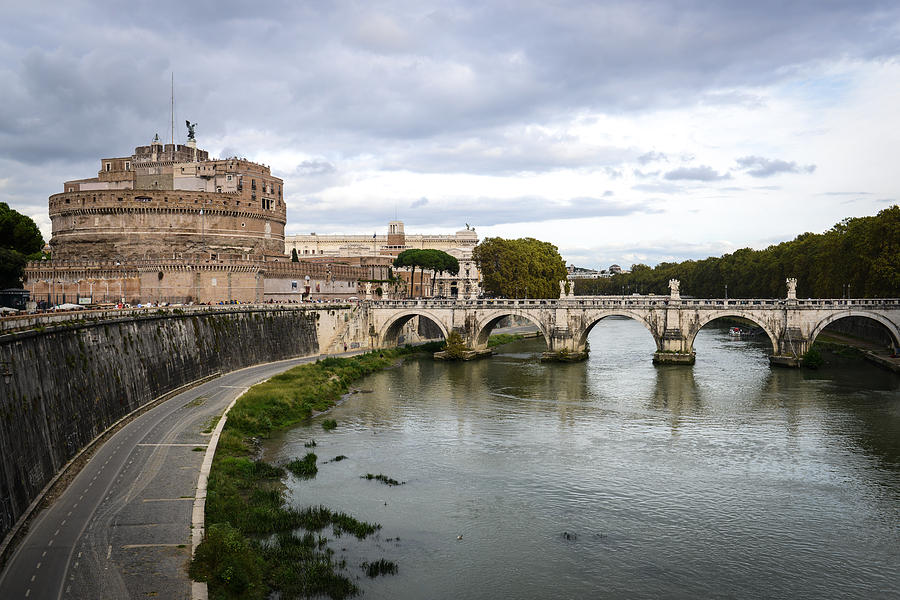 Castle St Angelo In Rome Italy Photograph
