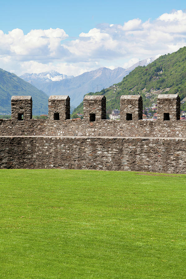 Castle Wall Of Bellinzona's Unesco Photograph by Ifish