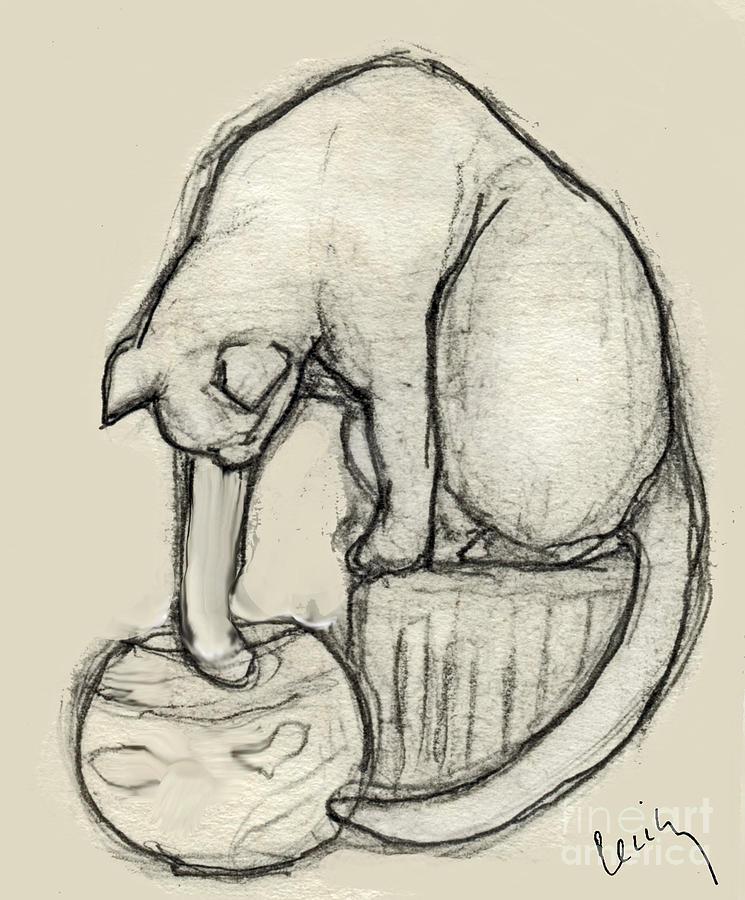 Art Fish Bowl Drawing